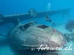 Flugzeugwrack vor Tahiti (Typ Catalina)